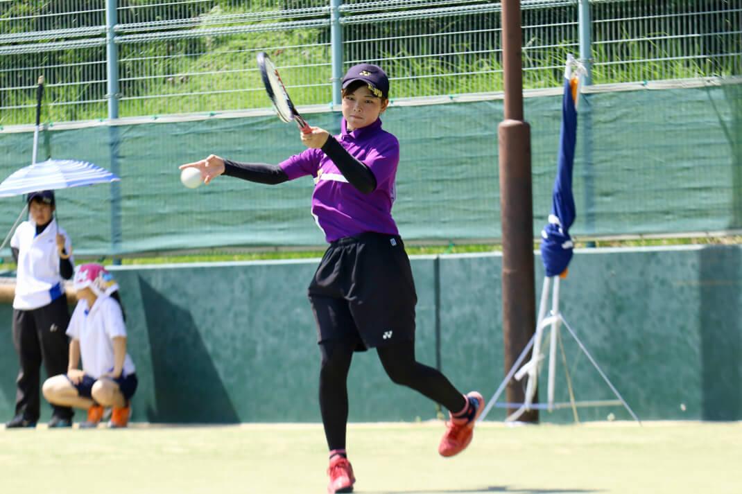 ソフトテニス部女子が全日本大学...
